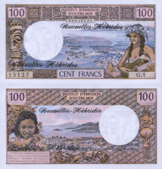 100 Francs New Hebrides's Banknote
