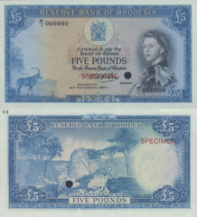 5 Pounds Rhodesia's Banknote