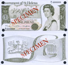 St. Helena 1 Pound Banknote, 1976, P-6s