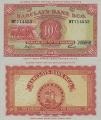 10 Shillings South West Africa's Banknote