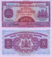 5 Dollars Ascension's Banknote