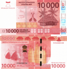 10,000 (10000) Francs French Pacific Territories's Banknote