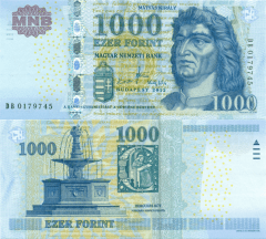Hungary 1,000 Forint Banknote, 2012, P-197