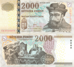 Hungary 2,000 Forint Banknote, 2013, P-198