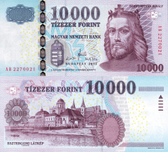 Hungary 10,000 Forint Banknote, 2012, P-200