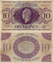 10 Francs French Equatorial Africa's Banknote