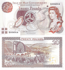 Isle of Man 20 Pounds Banknote, 2013, P-49