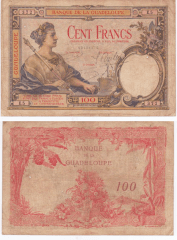 100 Francs Guadeloupe's Banknote
