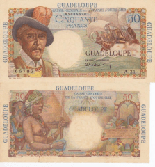 50 Francs Guadeloupe's Banknote