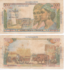 500 Francs Guadeloupe's Banknote
