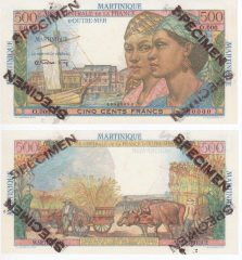 Martinique 500 Francs Banknote, 1947, P-32