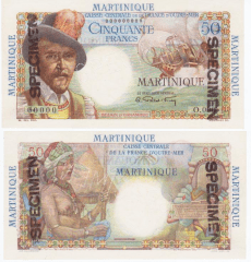 Martinique 50 Francs Banknote, 1947, P-30s