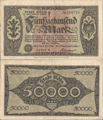 50,000 Mark Germany/Notgeld's Banknote