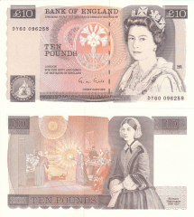 Great Britain/England 10 Pounds Banknote, 1988, P-379e