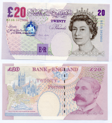 Great Britain/England 20 Pounds Banknote, 1999, P-390a