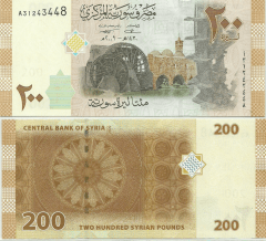 Syria 200 Pounds Banknote, 2009, P-114
