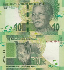 South Africa 10 Rand Banknote, 2012, P-133