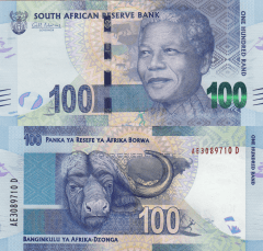 South Africa 100 Rand Banknote, 2012, P-136