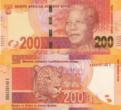 South Africa 200 Rand Banknote, 2012, P-137