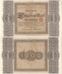 1,000 Mark Germany/Notgeld's Banknote