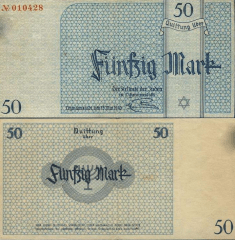 Litzmannstadt Labor Camp, Pola 50 Mark Banknote, 1940, P-UNLISTED