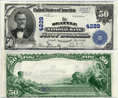 50 Dollars United States's Banknote