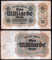 Germany/Notgeld 1 Milliarde Banknote, 1923, P-UNLISTED
