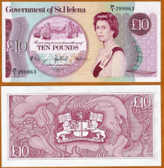 St. Helena 10 Pounds Banknote, 1985, P-8b