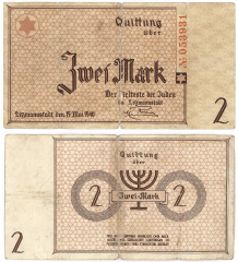 2 Mark Litzmannstadt Labor Camp, Pola's Banknote
