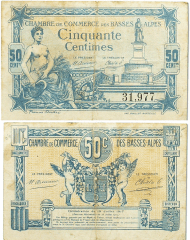 France 50 Centimes Banknote, 1921, P-UNLISTED