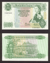 25 Rupees Mauritius's Banknote