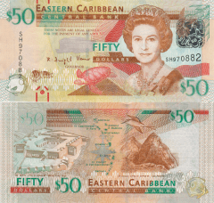 East Caribbean States 50 Dollars Banknote, 2012, P-54