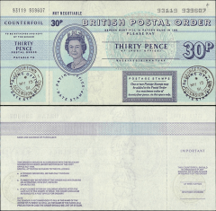 30 Pence Ascension's Banknote