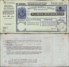 Turks & Caicos Islands 6 Pence Banknote, 1962, P-UNLISTED