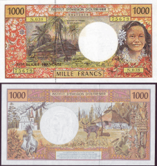 1,000 (1000) Francs French Pacific Territories's Banknote