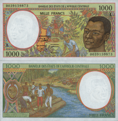 1,000  Francs Central African States's Banknote
