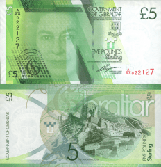 5 Pounds Gibraltar's Banknote