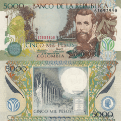 5,000 Pesos Colombia's Banknote