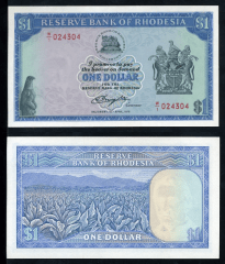 Southern Rhodesia 1 Dollar Banknote, 1978, P-34c