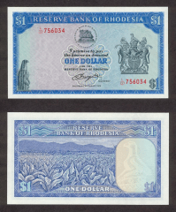 Southern Rhodesia 1 Dollar Banknote, 1979, P-38