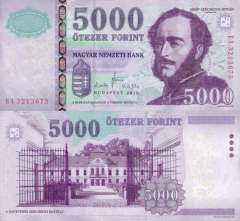 5,000 Forint Hungary's Banknote