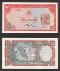 Southern Rhodesia 2 Dollars Banknote, 1979, P-35d