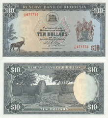 10 Dollars Southern Rhodesia's Banknote