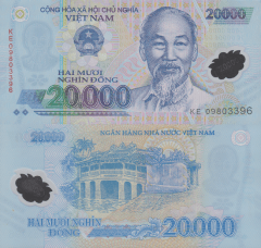 Vietnam 20,000 Dong Banknote, 2009, P-120d