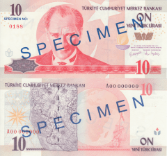 10 New Lira Turkey's Banknote