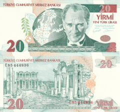 20 New Lira Turkey's Banknote