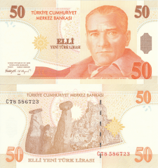 50 New Lira Turkey's Banknote