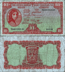 Ireland/Republic 10 Shillings Banknote, 1945, P-56a