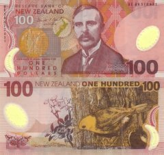 New Zealand 100 Dollars Banknote, 1999, P-189a.1