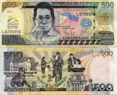 500 Pesos Philippines's Banknote
